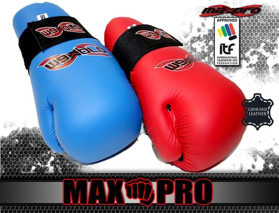 "Перчатки fight ""макспро"" для таеквондо и кикбоксинга. Кожа"