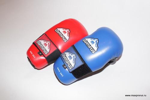 """Перчатки fight """"олимпус"""" для таеквондо и кикбоксинга. Кожа"""