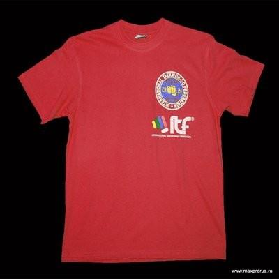 Футболка с эмблемами ИТФ. 100% хлопок.