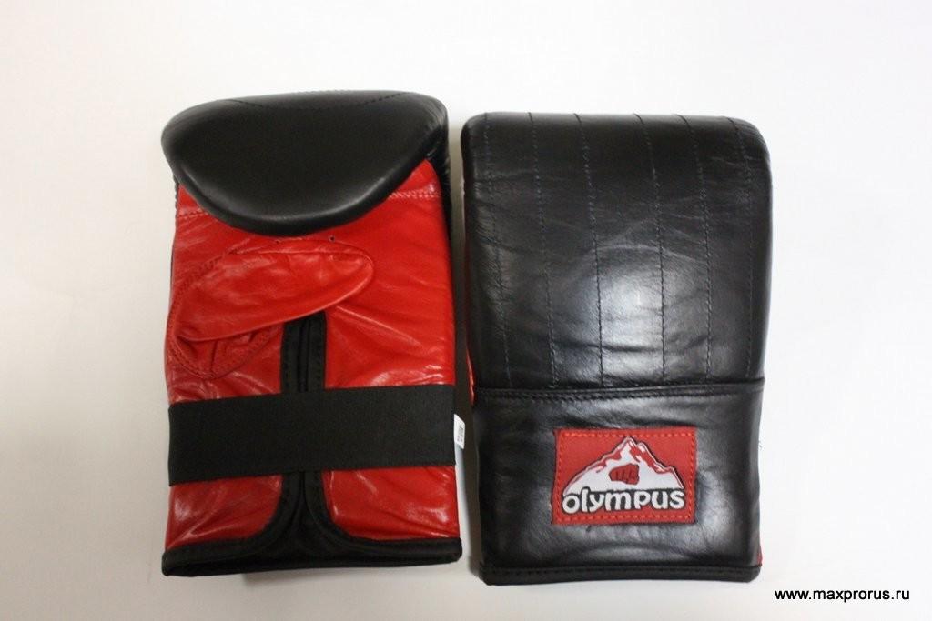 Перчатки для тренировки по мешку. Кожаные.