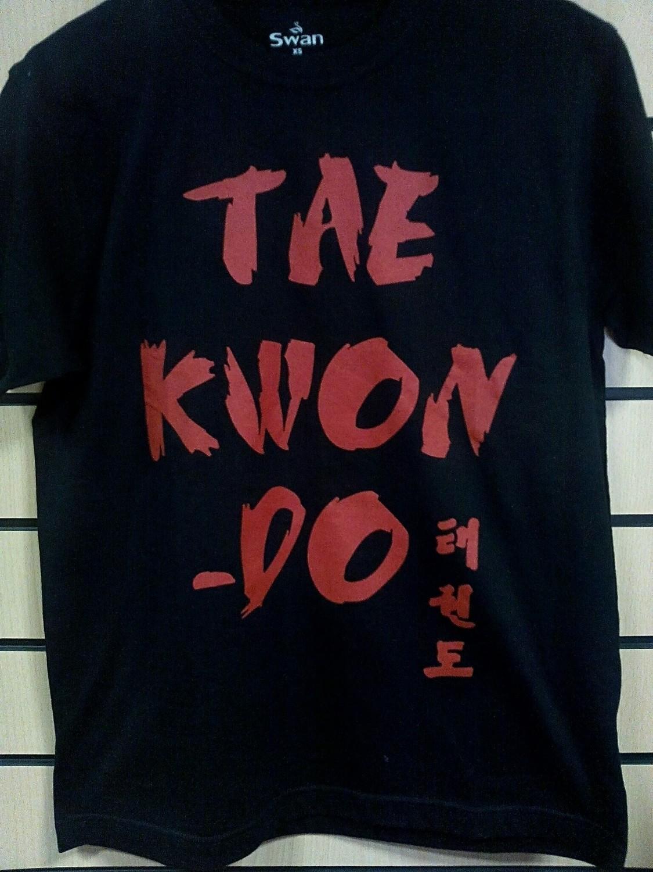 Футболка Taekwondo черно-красная