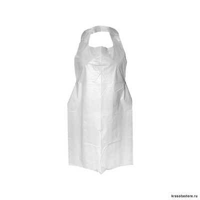 Фартук одноразовый полиэтилен прозрачный 25 шт