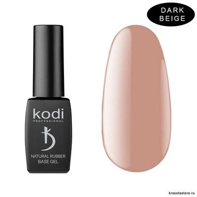 База для гель лака Каучуковая Dark Beige Kodi Professional 12 мл