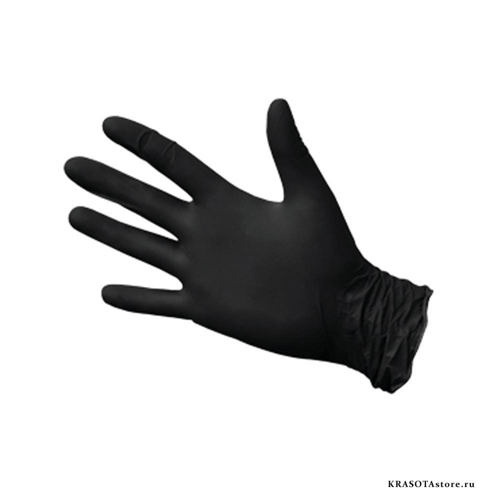 Перчатки нитриловые черные размер S 50пар