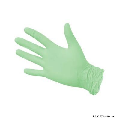 Перчатки нитриловые зеленые размер XL 50пар