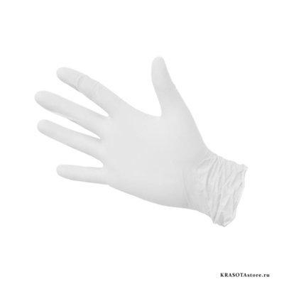 Перчатки нитриловые белые размер M 50пар