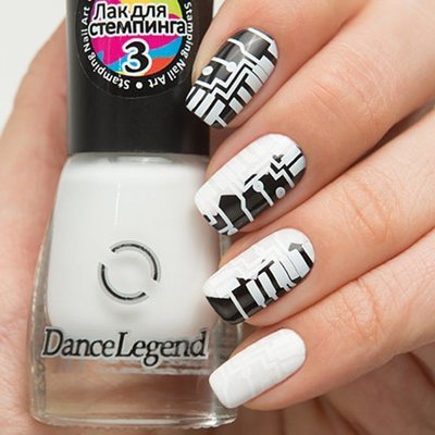 Лак для стемпинга № 3 White (stamping nail art) 6,5мл