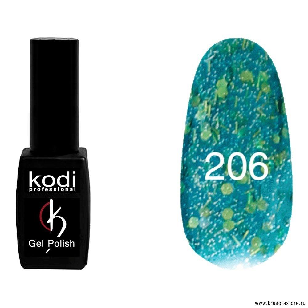 Kodi Professional Гель лак № 206 (gel polish) 8мл