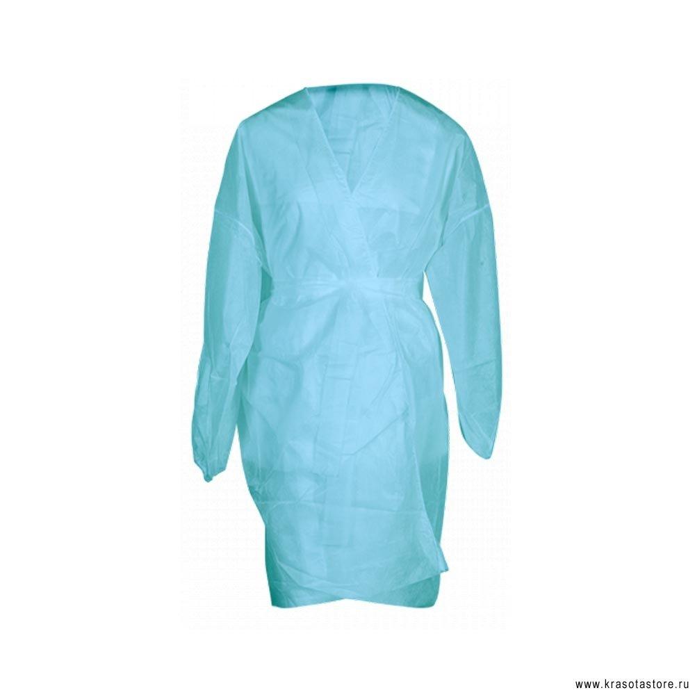 Халат кимоно с рукавами СМС Люкс голубой 5шт