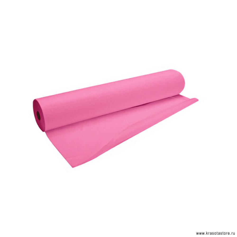 Простыня СМС Эконом 200x80см рулон розовый 100шт