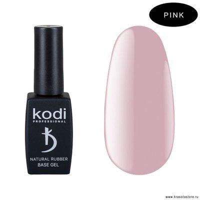 Kodi Professional База для гель лака каучуковая Pink (natural rubber base) 12мл