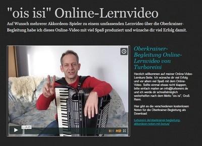 Oberkrainer-Begleitung Online-Lernvideo