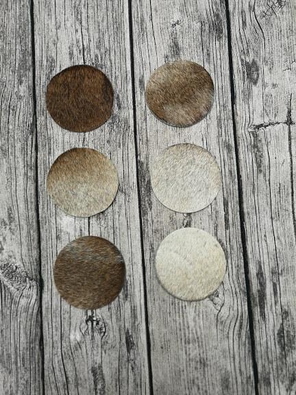 KUHIE®, Kuhfell Untersetzer rund 10 cm, verschiedene Farben
