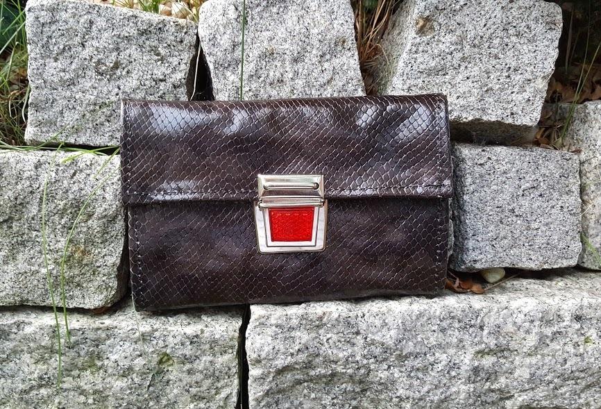 Geldbörse - Clutch aus Leder, KUHIE® - Allerlei aus Kuhfell