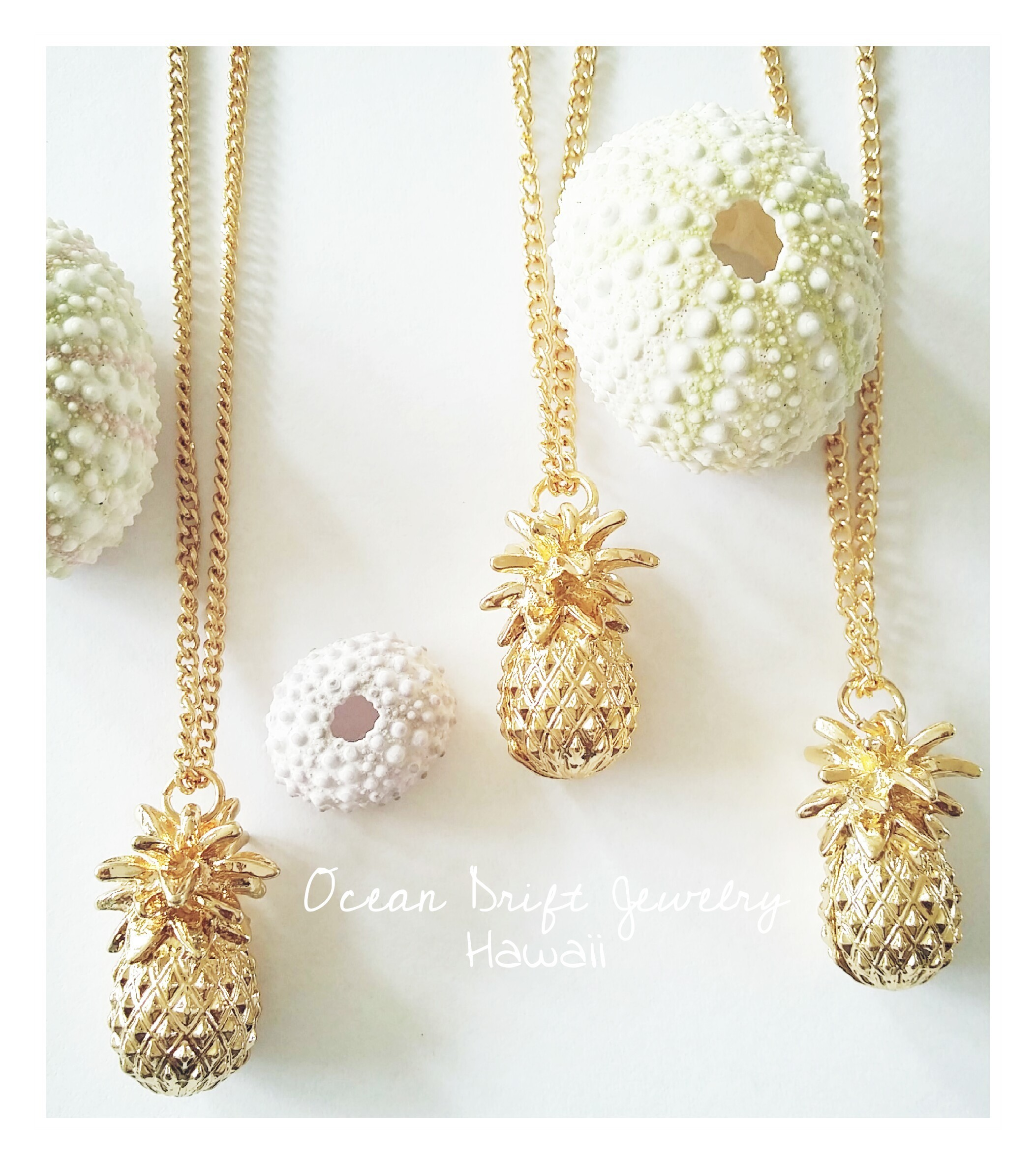 products pineapple aloha dainty image necklace