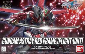 Gundam Astray Red Frame HG Flight Unit Gundam Seed MBF-P02 1/144 scale