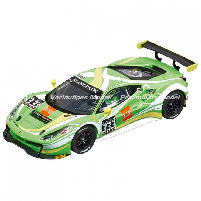 "Carrera 30847 Ferrari 488 GT3 ""Rinaldi Racing, No.333"", Digital 132 w/Lights....NEW 2018 SHIPPING DATES TO FOLLOW"