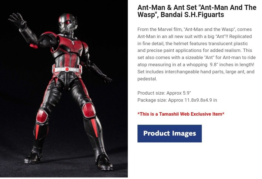 """ANT-MAN and the Wasp"" S.H. Figuarts Release date October 2018"