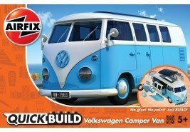 AIRFIX QUICK BUILD VOLKSWAGON CAMPER VAN BLUE AND WHITE