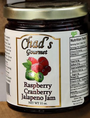 Raspberry Cranberry Jalapeno Jam -11 oz