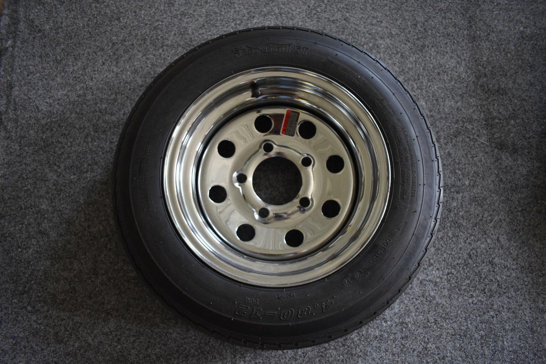 """4.80 X 12"""" Chrome Tire & Wheel"""