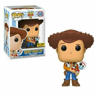 Pop ! Disney 535 - Toy Story 4 - Sheriff Woody Holding Forky (Hot Topic Exclusive)