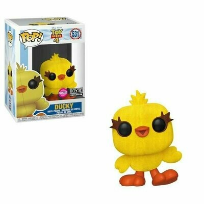 PREORDER 2019-10 Pop ! Disney 531 - Toy Story 4 - Ducky (Flocked FYE Exclusive)
