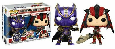 Pop ! Games 2-Pack - Marvel vs. Capcom : Infinite - Black Panther vs. Monster Hunter