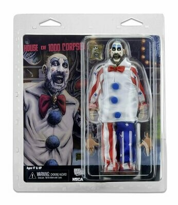 NECA -  House of 1000 Corpses – 8″ Clothed Action Figure – Captain Spaulding
