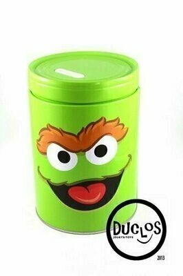 Bank - Tin Box - Sesame Street Round Coin Bank - Oscar