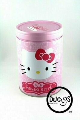 Bank - Tin Box - Hello Kitty Round Can Bank Heart
