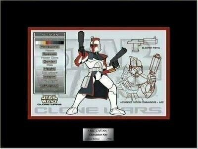 Star Wars - Character Key - 2006 - Limited Edition 0750 - Arc Captain (Razor's Edge Exclusive)