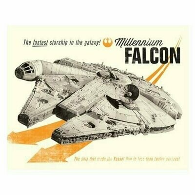 Star Wars - Millenium Falcon Fastest Starship in the Galaxy Canvas Print