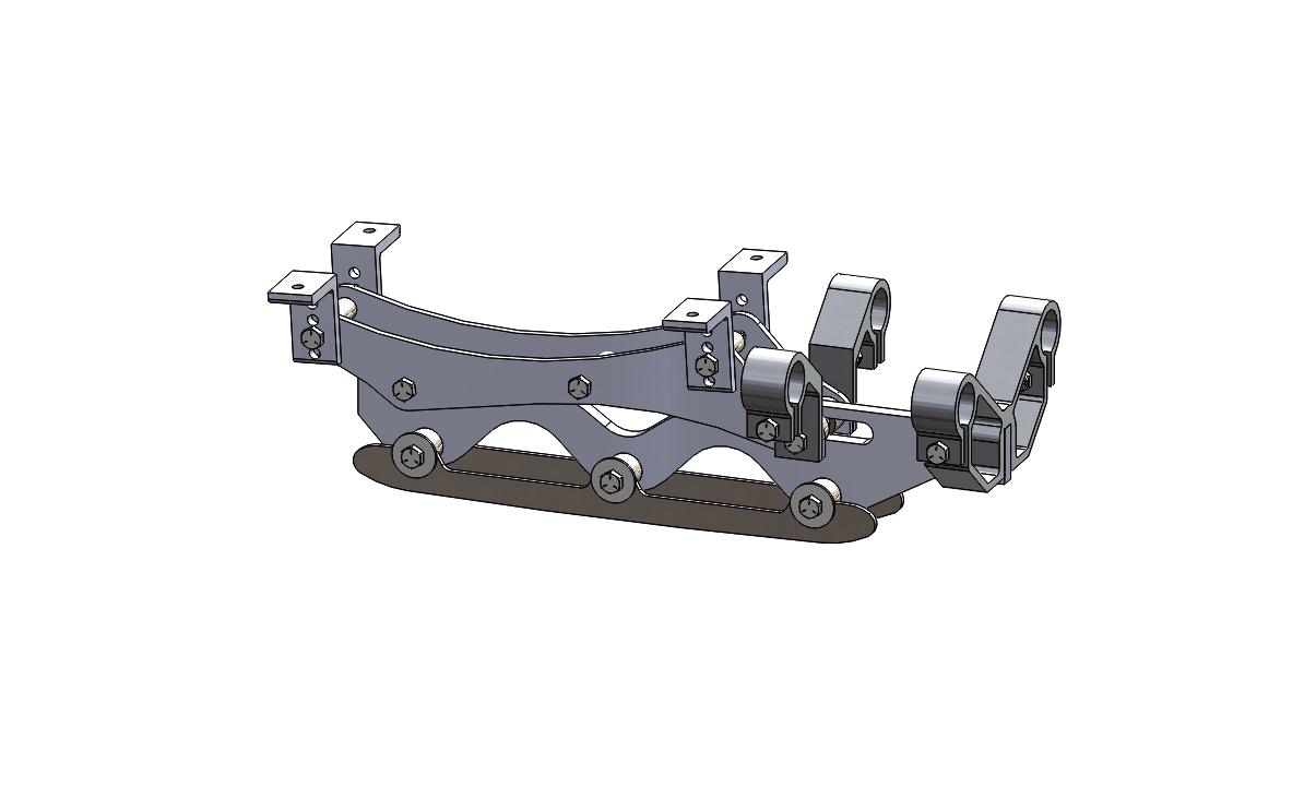 Wave Rear Frame Assembly 4 inch riser long blade