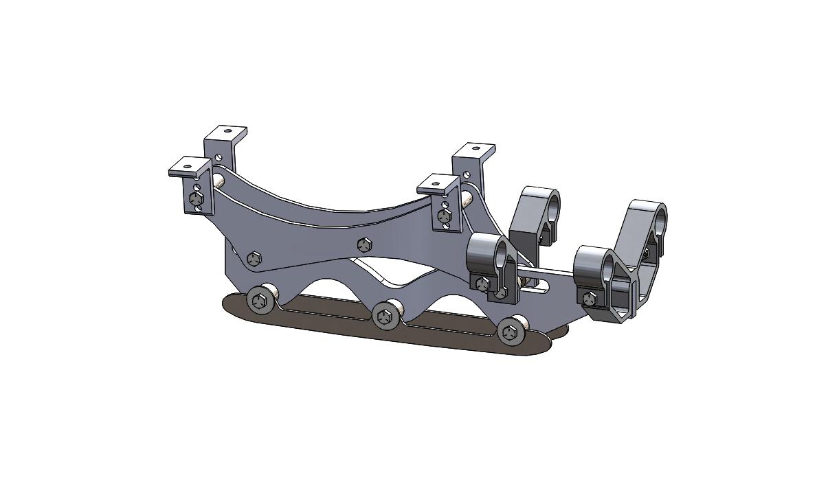 Wave Rear Frame Assembly 5 inch riser long blade