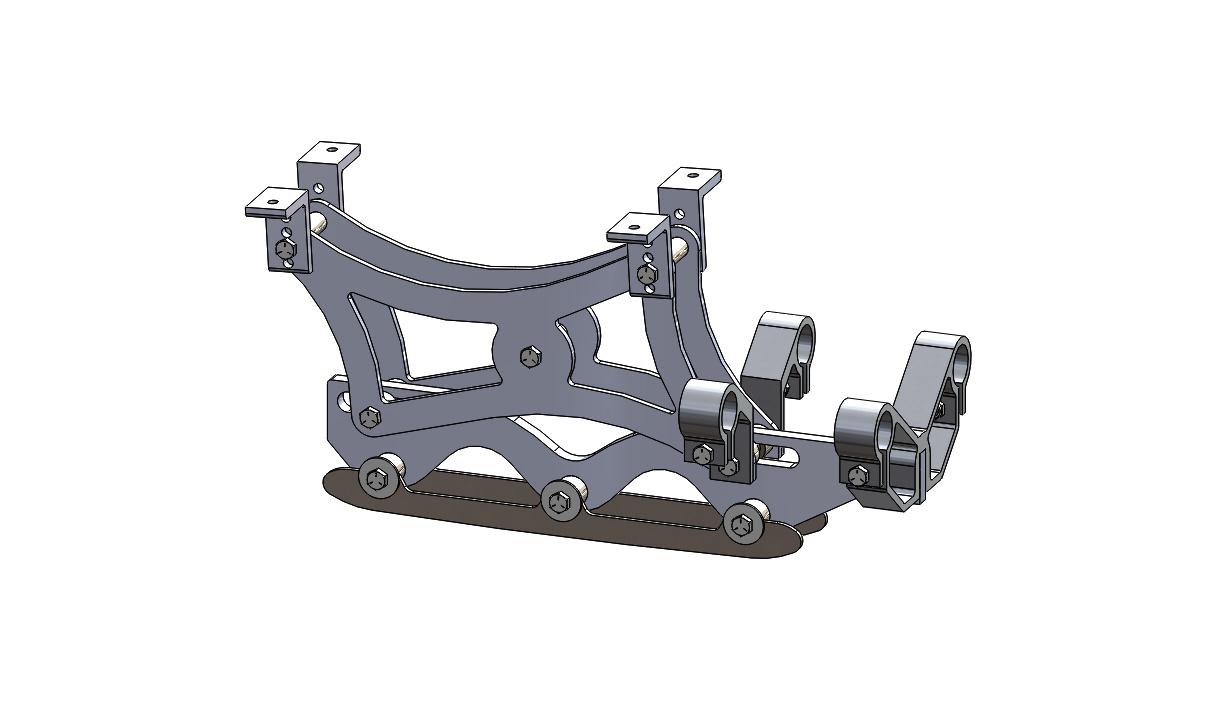 Wave Rear Frame Assembly 7 inch riser long blade