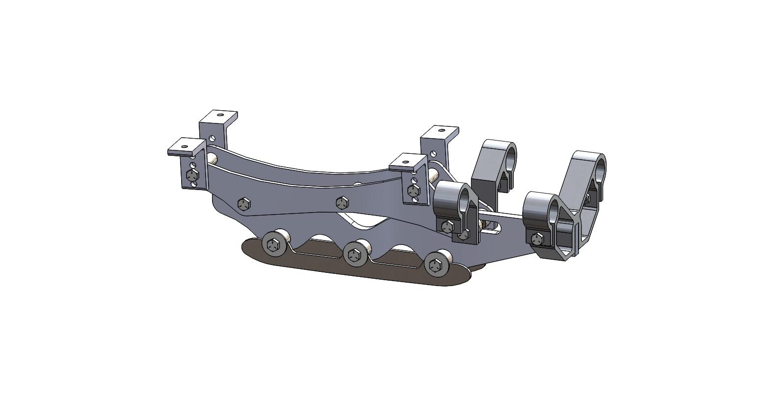 Wave Rear Frame Assembly 4 inch riser short blade