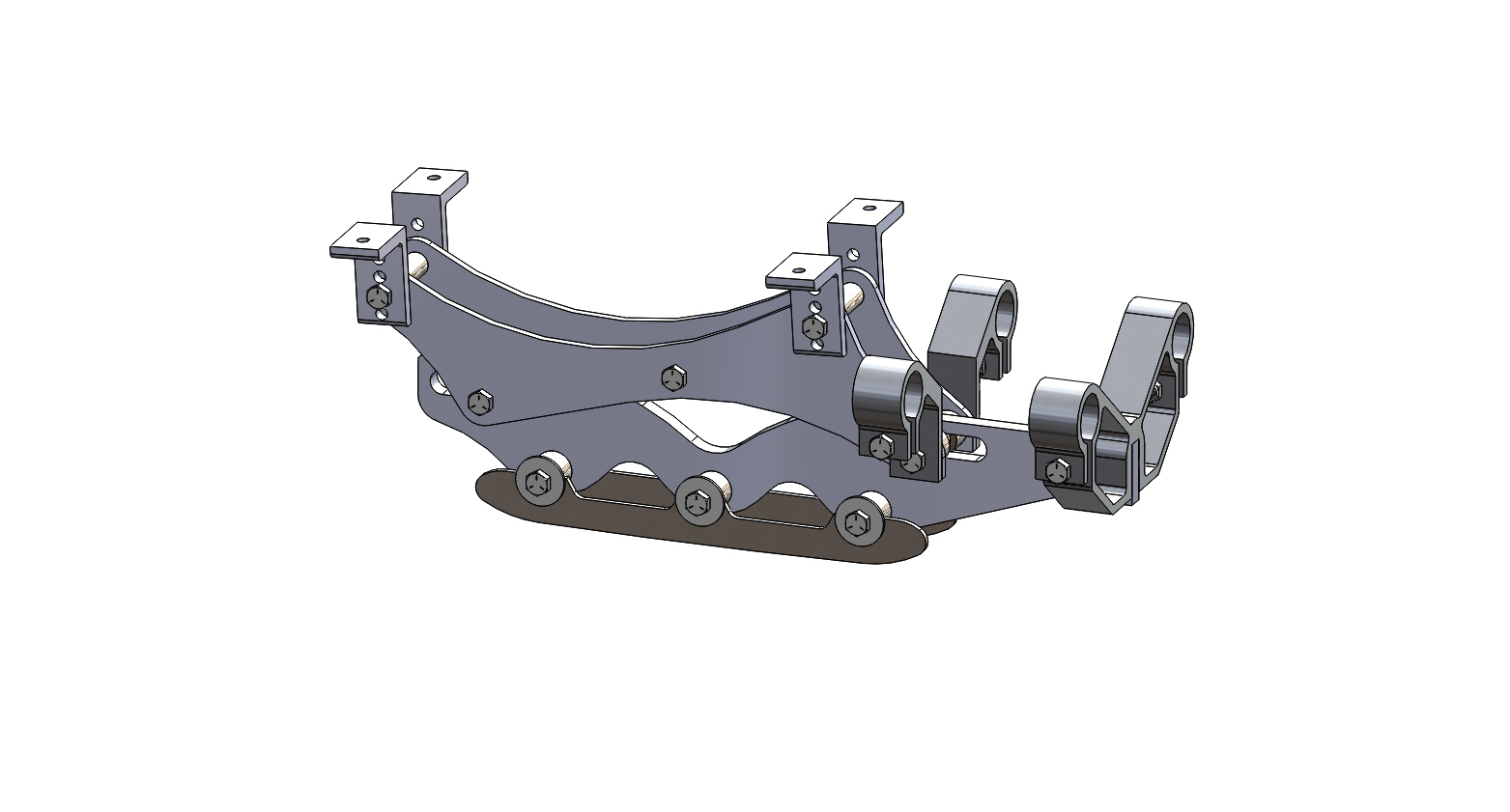 Wave Rear Frame Assembly 5 inch riser short blade
