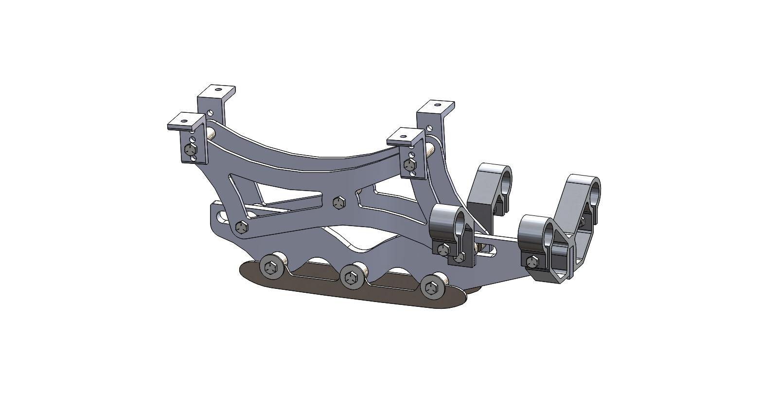 Wave Rear Frame Assembly 6 inch riser short blade