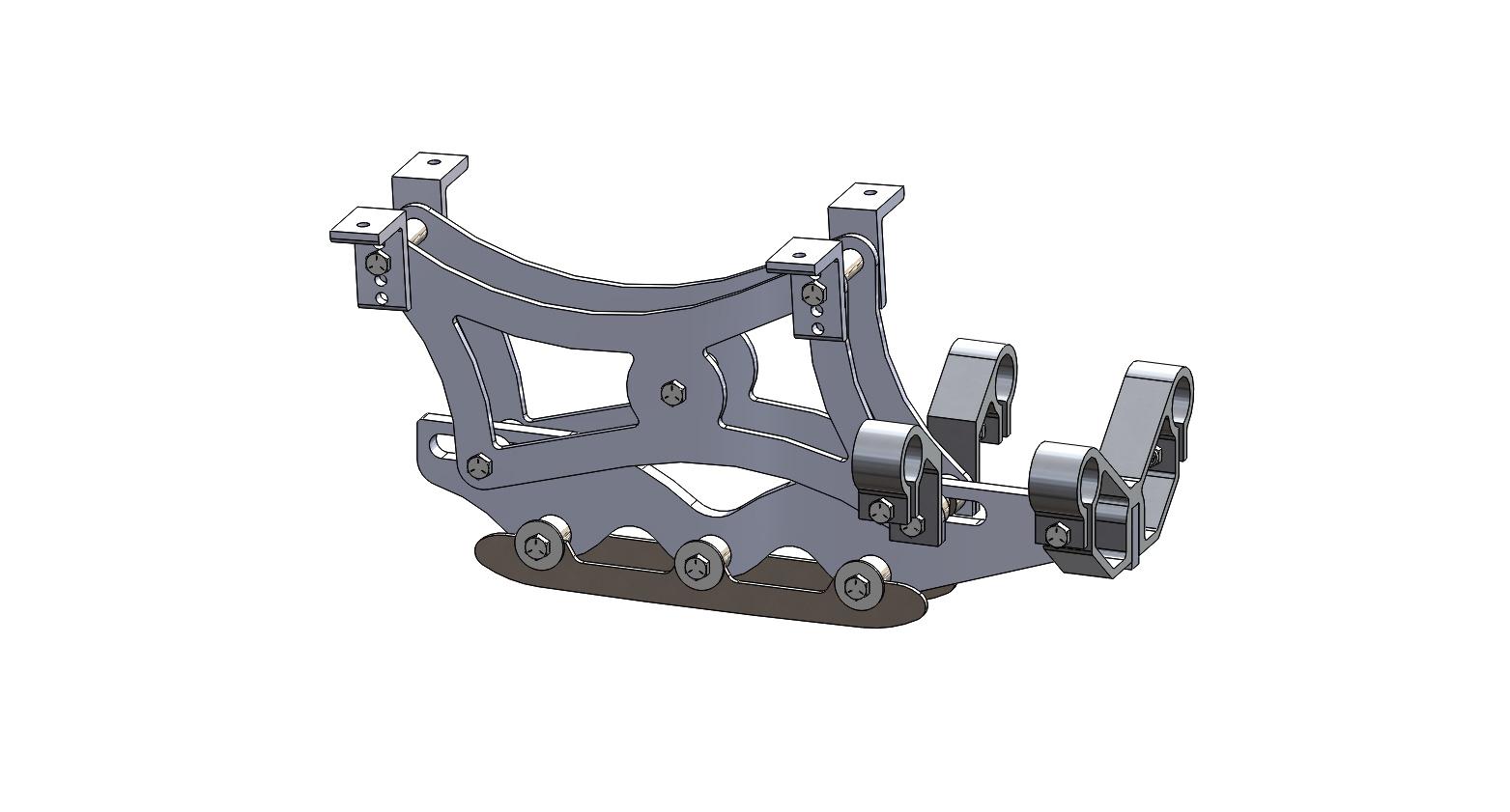 Wave Rear Frame Assembly 7 inch riser short blade
