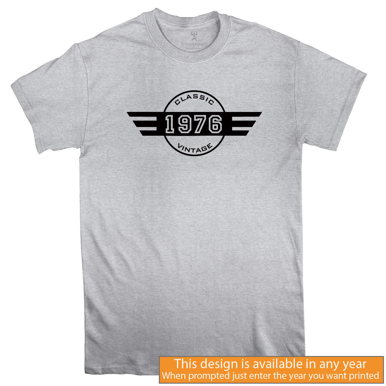 9f4a7ee10 Sport Grey Classic Vintage - Choose any year Men T-shirt, Sizes S ...