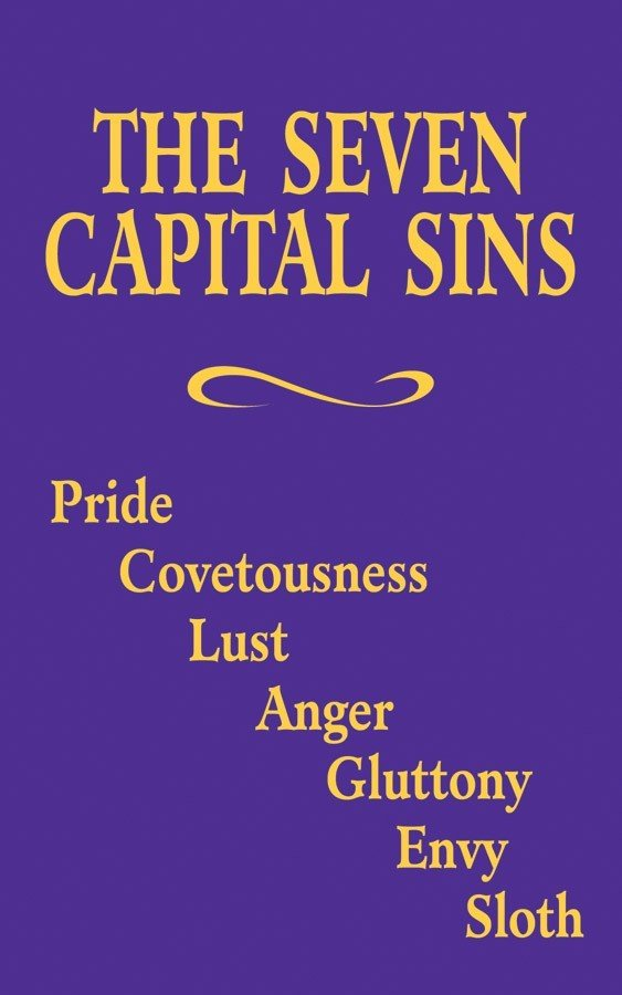 The Seven Capital Sins 1721
