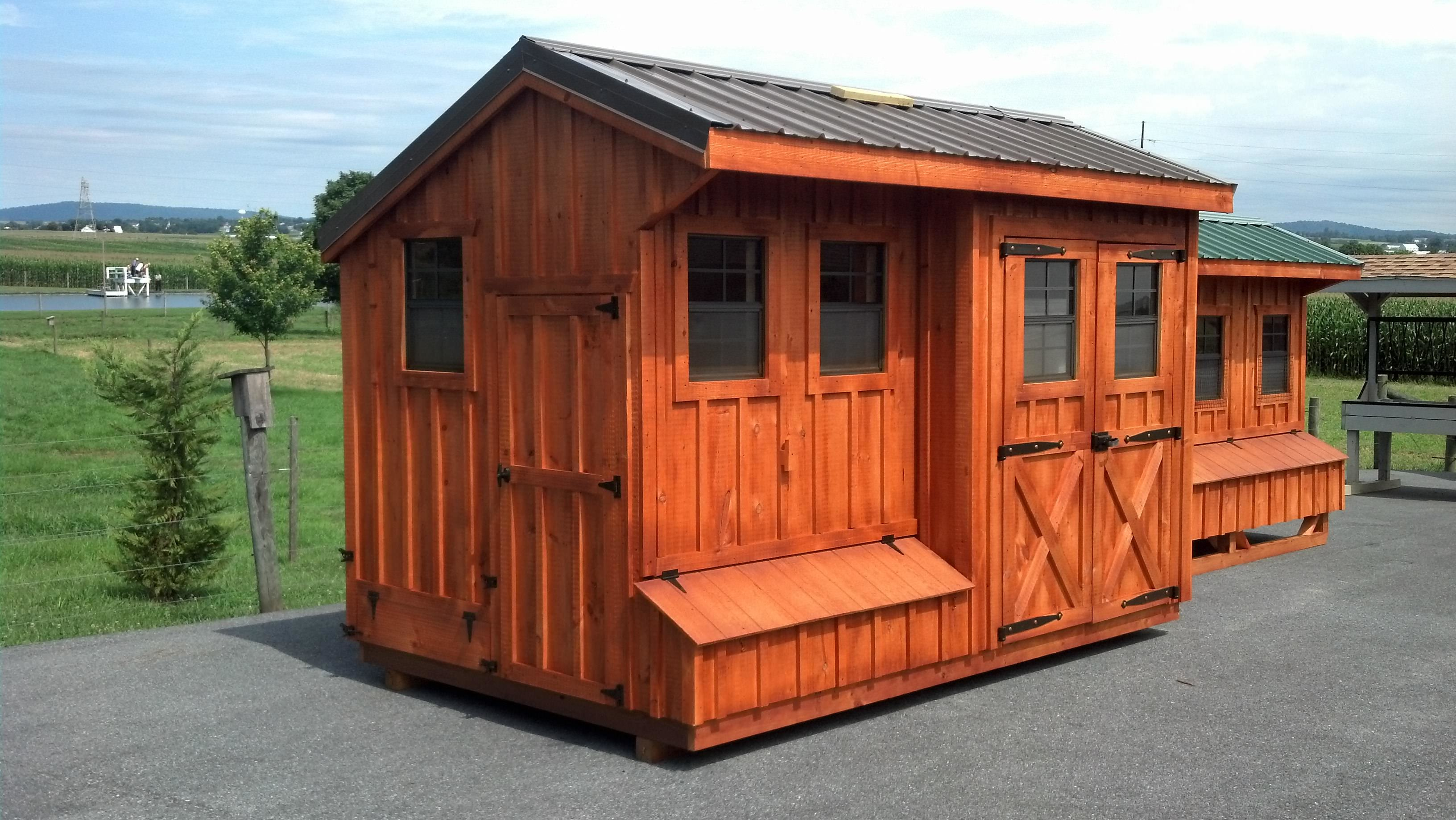 Quaker Style Coop Shed 8x14 5