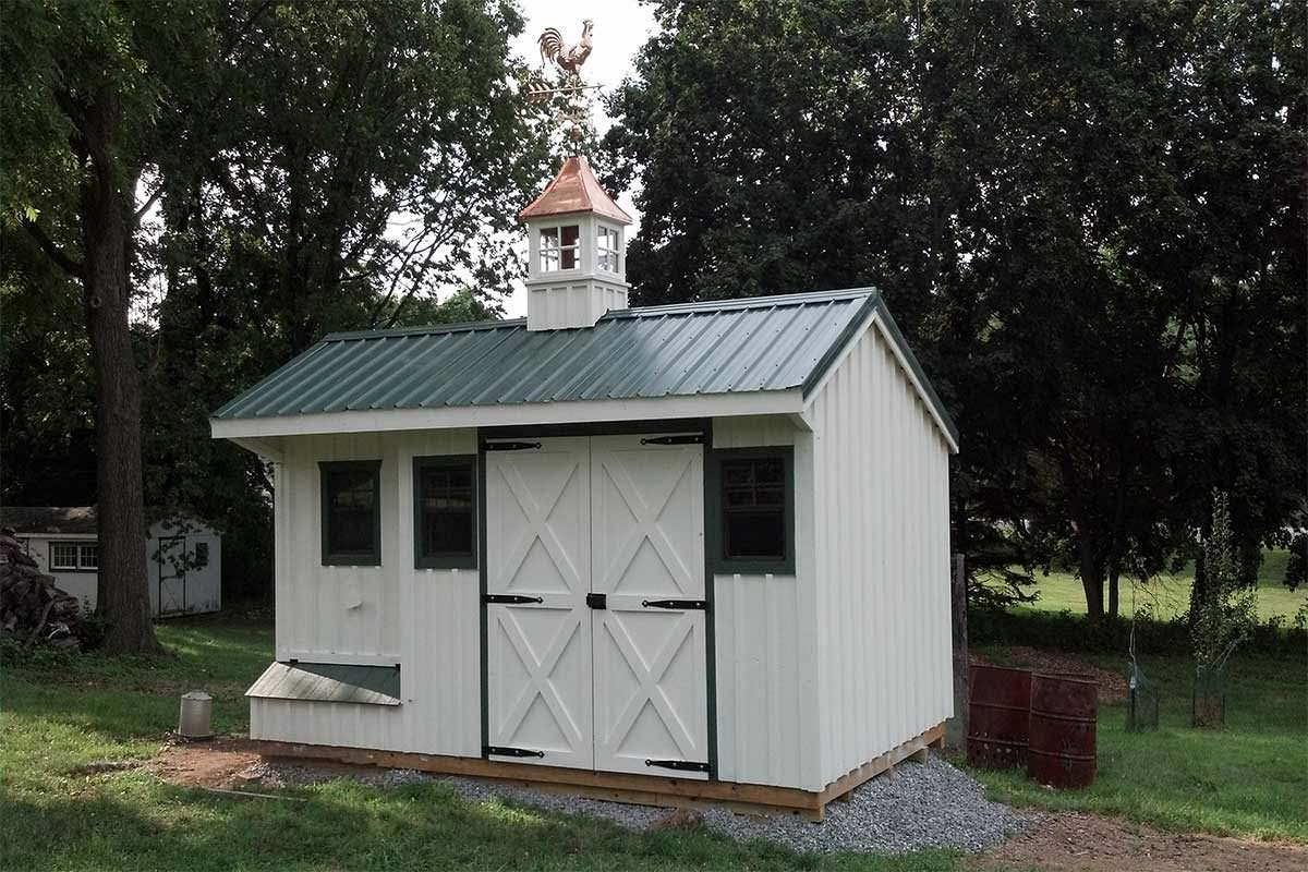 Coop Shed 10x16 white 6