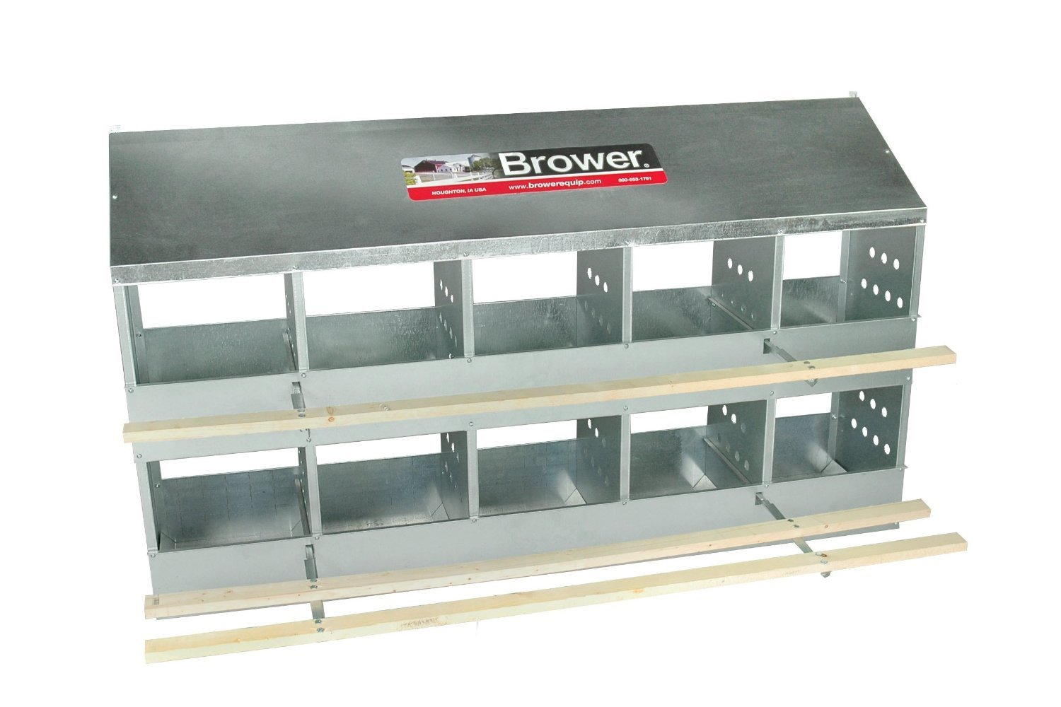 Brower 410B Poultry 10-Hole Nest browerbox1