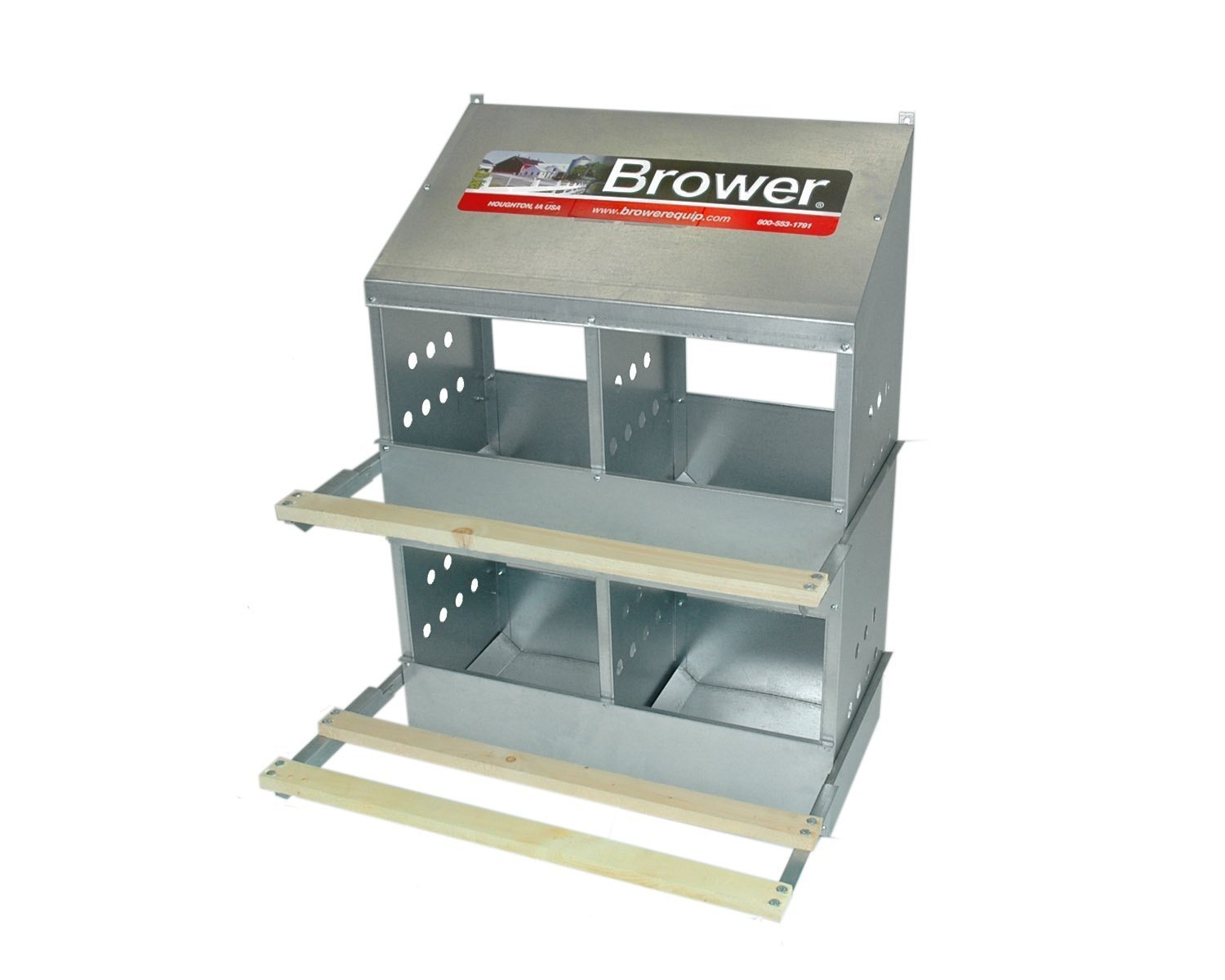 Brower 404B Poultry 4-Hole Nest Browerbox2