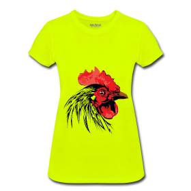 Ladys neon rooster shirt12