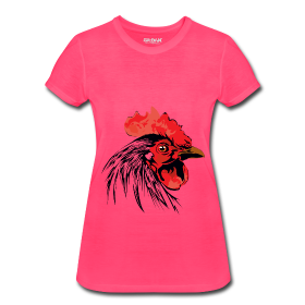 Ladys neon rooster