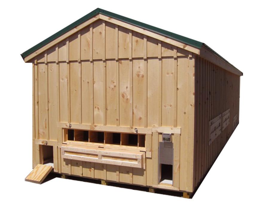 HS 10x30 Pine Board & Batten Coop
