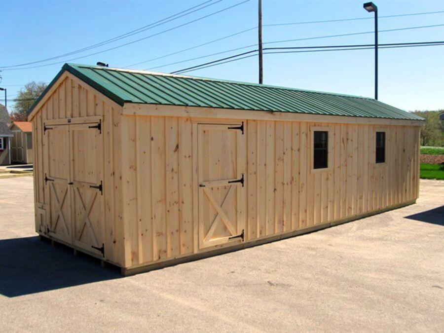 HS 10x30 Pine Board & Batten Coop hs 10X30